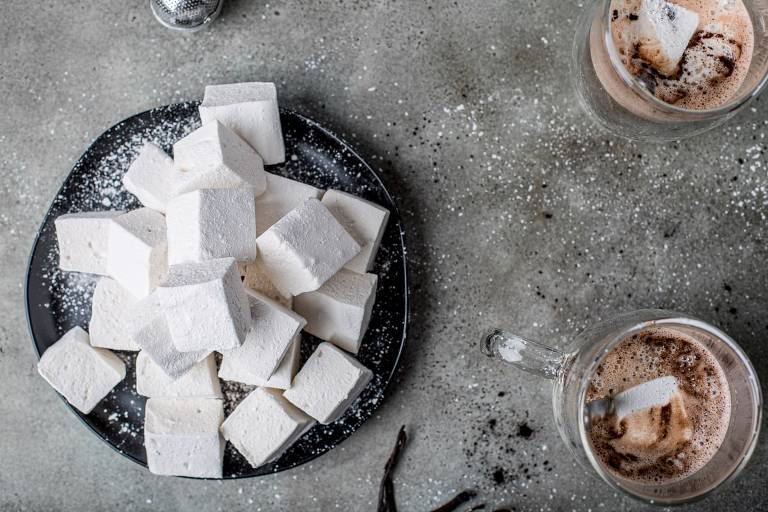 Pile of homemade marshmallows